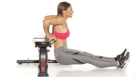 tricep dips bench 20 minute full body workout for fall fitness republic