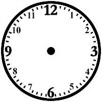 printable analog clock with minutes printable analog clock face clipart best