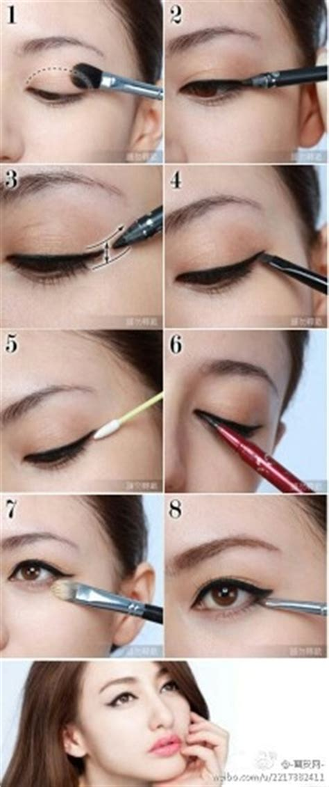 eyeliner tutorial for asian eyes asian cat eyes makeup look key is to pull the line 1 3 of