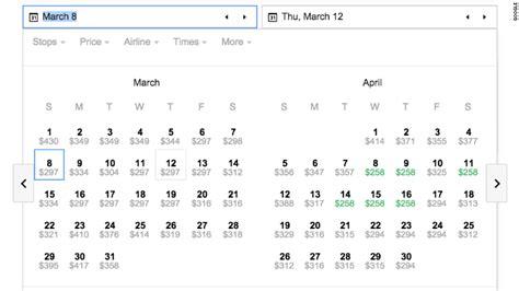 Flight Price Comparison Calendar You Want The Best Flight Deal It Feb 25 2015