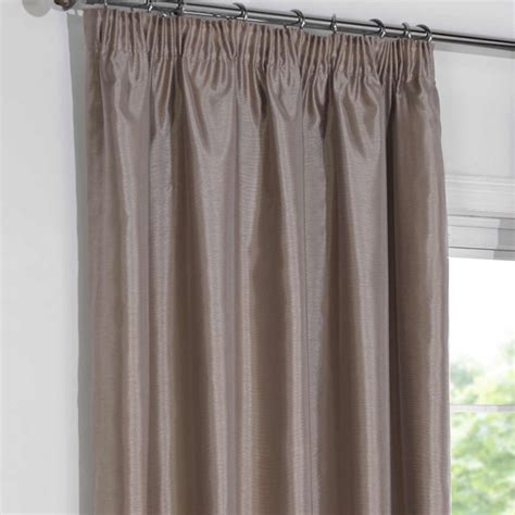 taupe blackout curtains blackout curtains taupe faux silk pencil pleat blackout