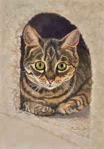 tabby cat colors tabby cat color print in 8 quot x10 quot mat cat lover s print