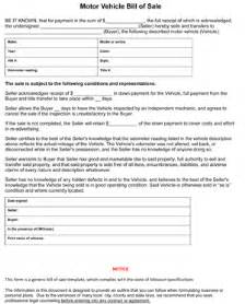 Bill Of Sale Missouri Template by Missouri Bill Of Sale Form 8ws Templates Forms