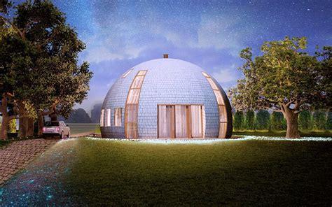 casa cupola una casa sferica sopporta 700 chili di neve per metro