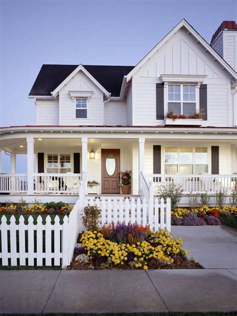 wrap around front porch white farmhouse design pictures remodel decor and ideas page 4 charming exteriors