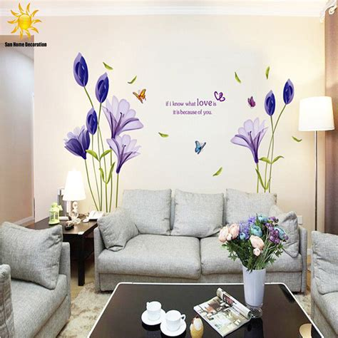 Tulip Wall Stickers online buy wholesale wall sticker living room tulip from