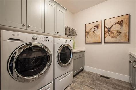 Laundry Room Fantastic Laundry Room Features Gray Shaker Cabinets