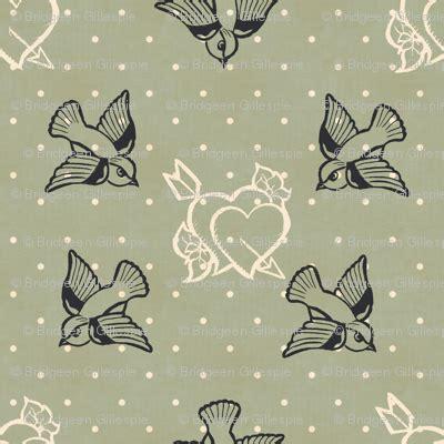 tattoo pattern fabric dove grey tattoo fabric cherryandcinnamon spoonflower