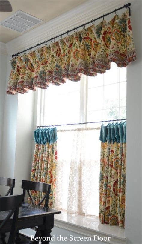 kitchen trendy kitchen curtains valances before and