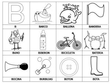 imágenes que empiecen con la letra b colorea tus dibujos laminas con dibujos para aprender