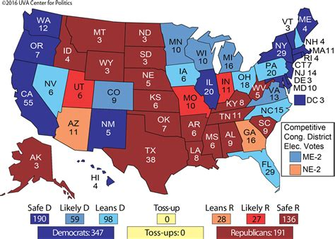 Election Map by Uva Electoral Map Shows Hillary Clinton Winning The