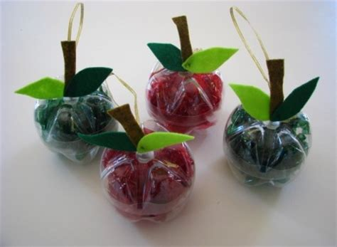 plastic decorations apple decorations from recycled plastic bottles joyful