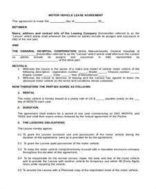 Truck Lease Agreement Template by Doc 600730 Commercial Truck Lease Agreement Sle