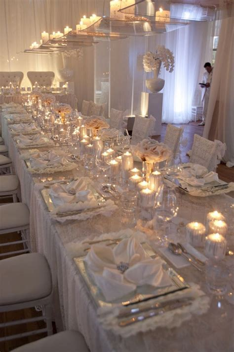 Long Rectangle Tables ? (Tulle Tales) Lace overlay over