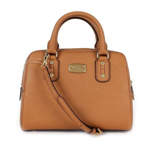 light brown mk purse michael michael kors acorn brown saffiano leather small