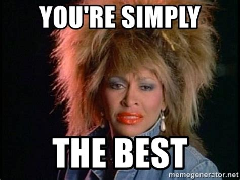 Youre Meme - you re simply the best whats love tina turner meme