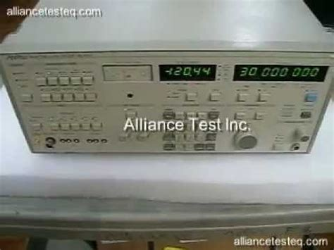 Anritsu Selective Level Meter Ml422c hp 3586a selective level meter at work as a hf receiver