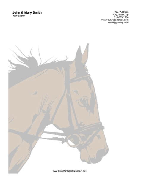 free printable horse stationery horse sunset stationery