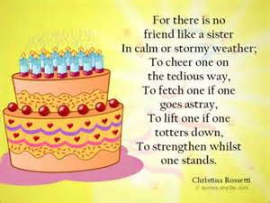 Birthday quotes for sister quotes and sayings