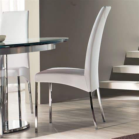 luxury simplicity of modern white dining chairs dining