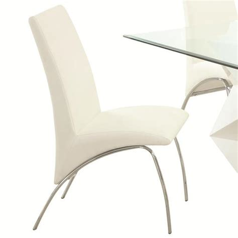 modern metal dining chairs peenmedia com coaster ophelia contemporary vinyl and metal dining chair