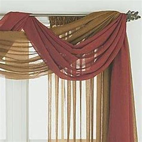 sheer curtain scarf ideas home design and decor pretty window scarf ideas double