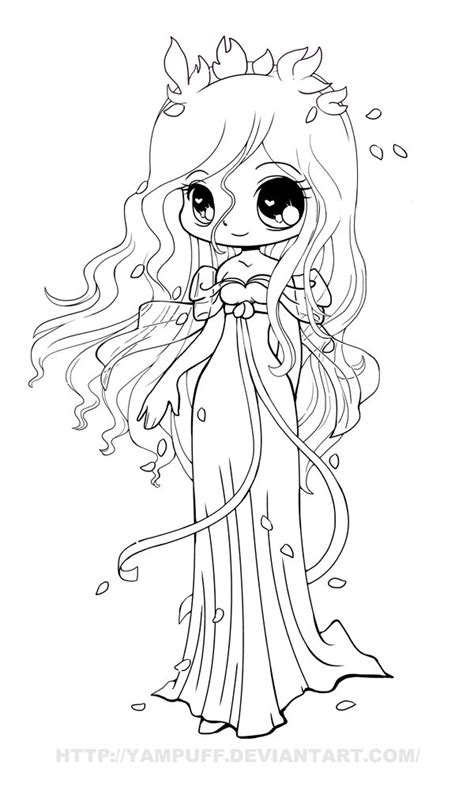 Chibi Anime Coloring Pages chibi lineart by yuff on deviantart