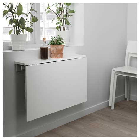 ikea wall norberg wall mounted drop leaf table white 74x60 cm ikea