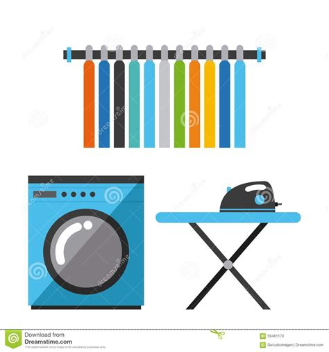 laundry web design laundry service stock vector image 59461170