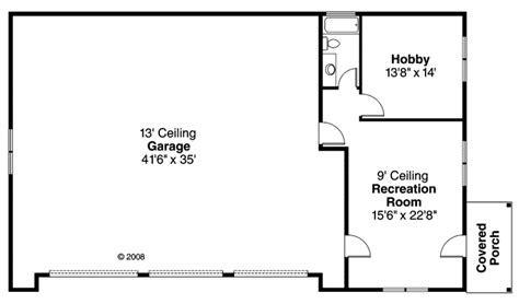 Garage Plan 59464 at FamilyHomePlans.com