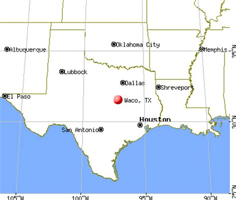 where is waco texas on the map waco texas map