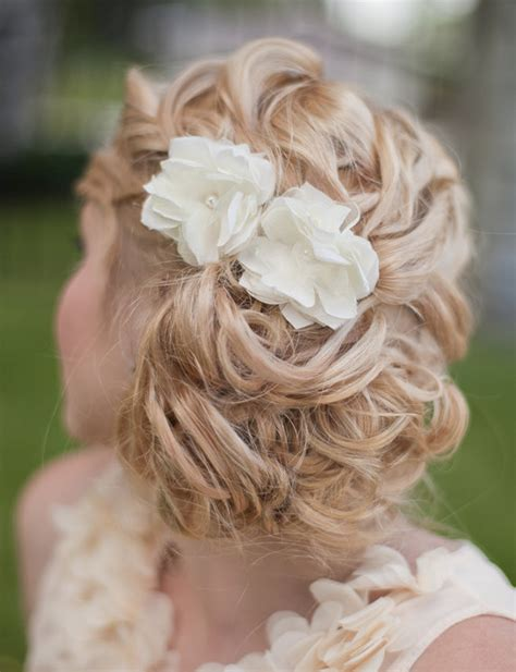 white wedding hairstyles bridal silk flowers wedding hair flower small by