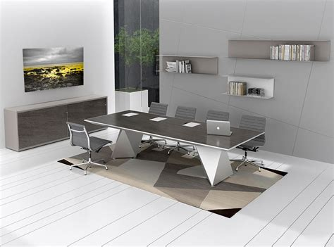 elegant grays modern conference table ambience dor 233
