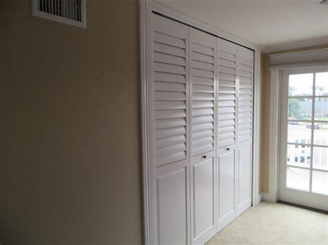 Shutter Doors For Closets Plantation Shutters Closet Doors