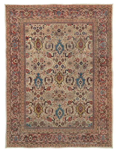 persian pattern png ivory persian sultanabad antique rug claremont rug company