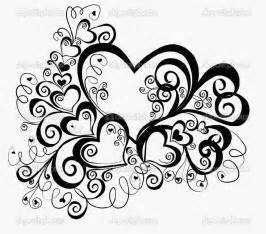 Coloring pages of hearts with roses free coloring pages for kids