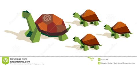 Origami Family - origami tortoise family stock vector image of ingenious