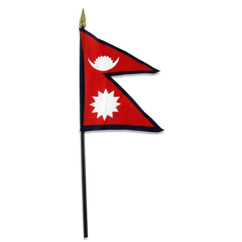 nepal flag 4 x 6inch