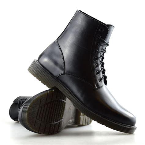 mens lace up biker boots mens combat smart work lace up ankle cowboy army