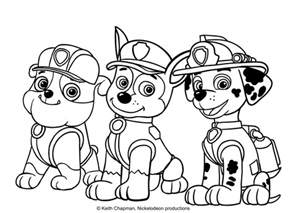rubble paw patrol coloring page rubble and marshall coloring page