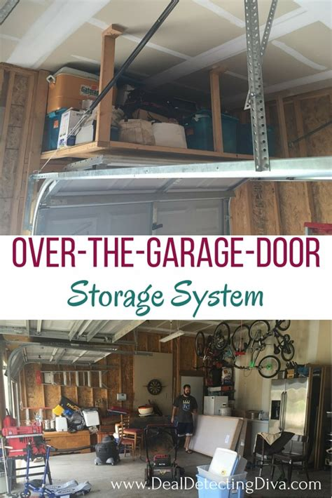 the garage door storage diy the garage door storage system hook home