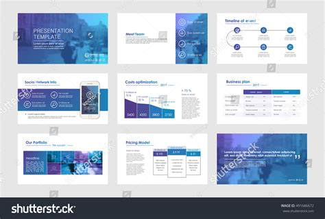 infographic brochure template elements infographics presentations templates leaflet