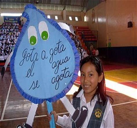 Imagenes D Pancartas Por El Dia Del Agua | en tingo mar 237 a inician actividades por el d 237 a mundial del