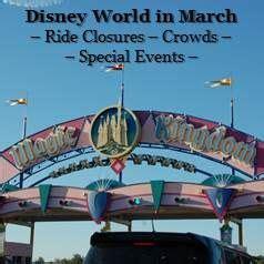 walt disney world  march ride closures crowds