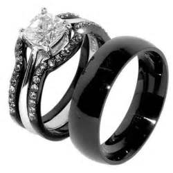 black gold wedding sets the best of black gold wedding rings lovely rings