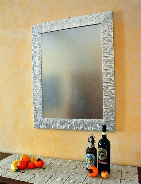 specchio cornice argento specchiera con cornice di design in legno laccato argento