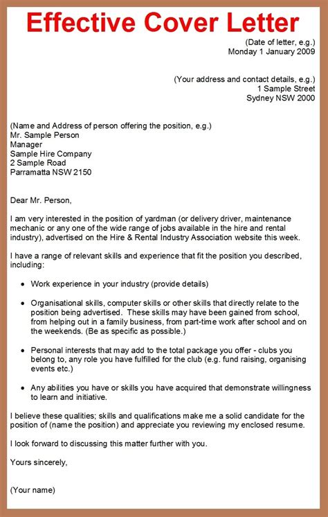 effective cover letter sle how do i write a cover letter for my resume 28 images