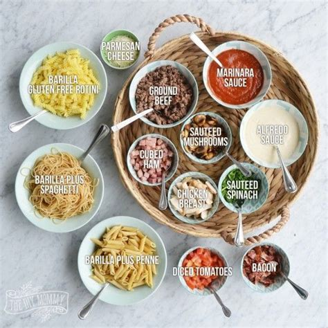 pasta bar toppings 1000 ideas about pasta bar on pinterest pasta bar party