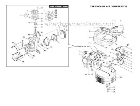 bostitch cap2000p of parts list and diagram type 0