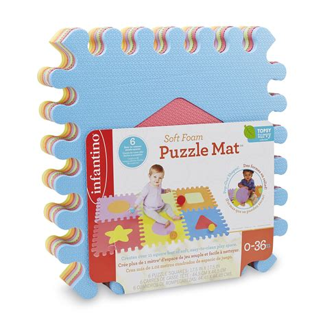 Puzzle Mat For Babies by Infantino Infant S 6 Soft Foam Puzzle Mat Baby